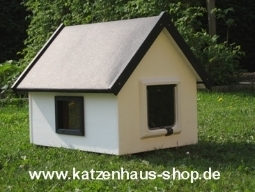 katzenhaus spitzdach farbe weiss wettereste. Black Bedroom Furniture Sets. Home Design Ideas