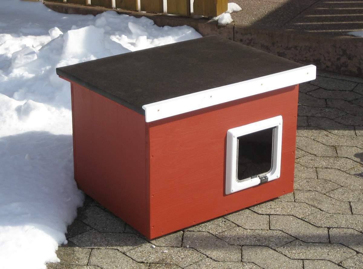 katzenhaus flachdach verschiedene farben m glich katzenhaus wetterfest f r drau en. Black Bedroom Furniture Sets. Home Design Ideas